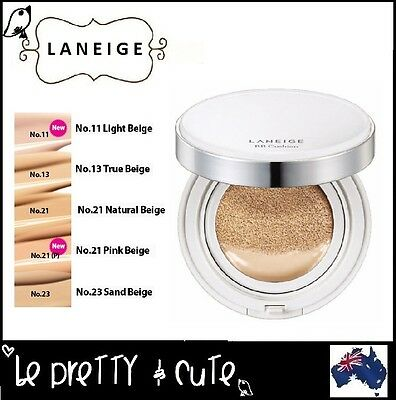 LANEIGE BB CUSHION SPF50 WITH EXTRA REFILL 2x15g (#11 #13 #21 #23) Brightening