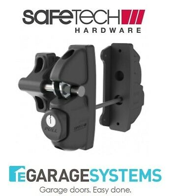 Safetech Gravity Double Sided Pedestrian Gate Latch Black Keyed SLV-Viper-X2