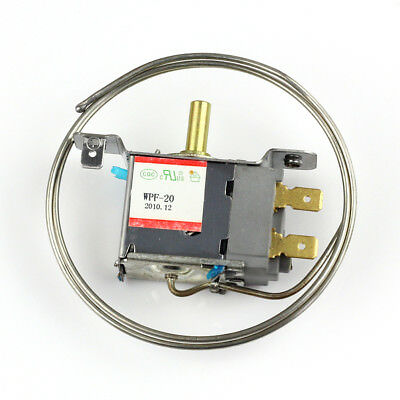 New 2 Pin WPF-20 Terminals Freezer Refrigerator Thermostat with 65cm Metal Cord