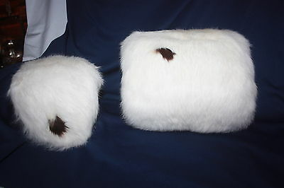 Vintage 1950 Beautiful Childs Child Silk Lined Fur Muff And Head Piece Orig. Box