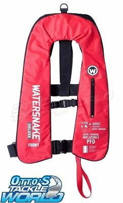 Watersnake Deluxe Auto/Manual Inflatable Life Jacket (Red) BRAND NEW at Otto's