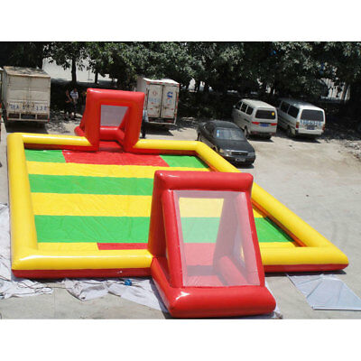 PVC material 10x5m giant outdoor inflatable football/soccer field,air blower