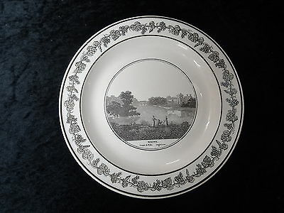 C1890's China Plate - Wilton House, Salisbury, Seat of the Earl of Pembroke.