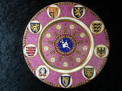 Caverswill China Plate. Convening of the 1st European Parliament in 1979