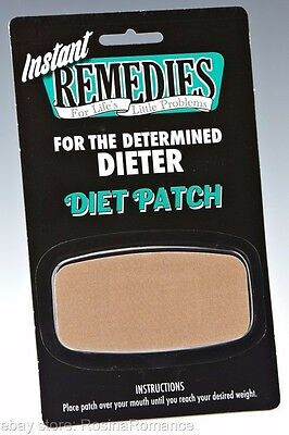 Instant Remedies Determined Dieter Kit Weight Loss Mouth Patch Funny Joke Gift