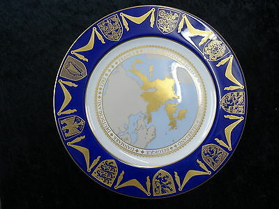 Spode China Plate - 1973 Enlargement of the EU with England Joining with Box