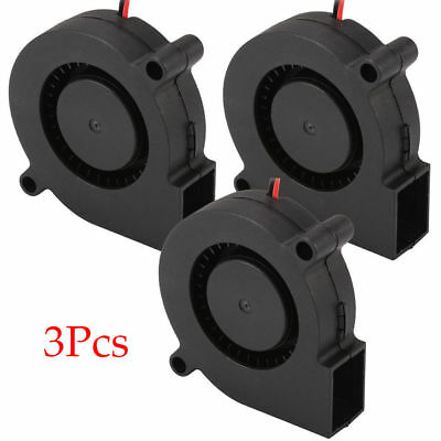 3X Brushless DC12V 5015 Cooling Blower Exhaust Fan 2-pin for 3D Printer Durable