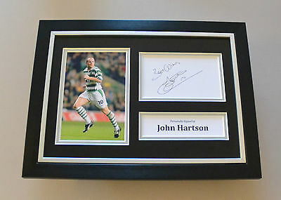 John Hartson Signed A4 Photo Framed Genuine Celtic Autograph Display + COA