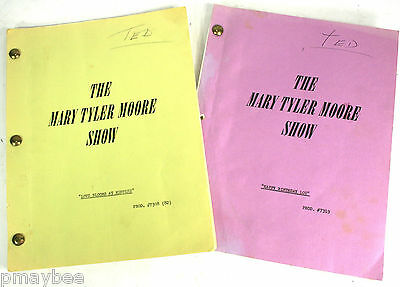 2 Original Television Scripts 1973 The Mary Tyler Moore Show Ted Baxter Season 4