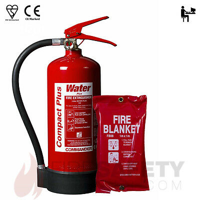 3 Litre Water Additive Fire Extinguisher + 1m x 1m Fire Blanket