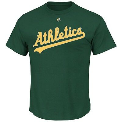 MLB Baseball OAKLAND ATHLETICS A's T-Shirt Wordmark von Majestic