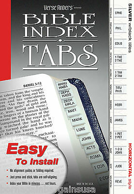 LONG LASTING Bible Index Tabs Verse Finders Silver Easy Installation Full Set