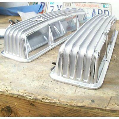 Vintage Small Block Chevy Tall Finned Valve Cover with Breather Hole - Pair  BBC