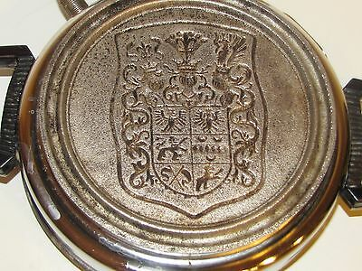Rare Neumarker Waffle / Crepe Maker Family Crest Plate Old Working Condition