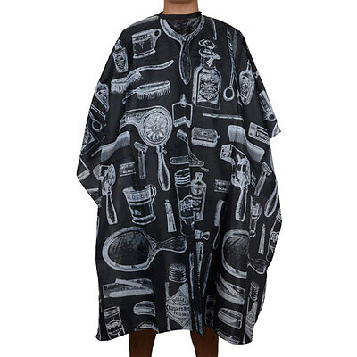 Black Pro Salon Hairdressing Hairdresser Hair Cutting Gown Barber Cape Cloth New