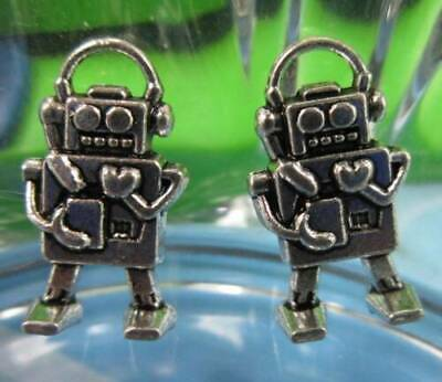 wholesale 20/60pcs Retro style lovely robot alloy Charms Pendants 17x9mm