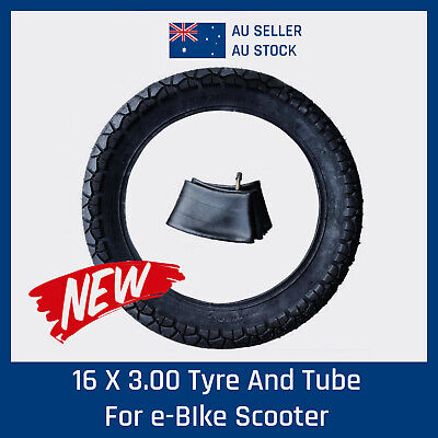 NEW 16x3.00 TYRE/TIRE + TUBE SCOOTER  ELECTRIC BICYCLE E-BIKE PARTS INNER TUBE