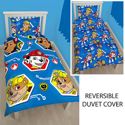 Paw Patrol Reversible Rotary Single Bed Duvet Quilt Cover New Set P+P