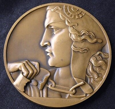 French Disabled Veterans Red Cross Bronze Medal 1946