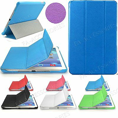Slim Smart Folding Book Leather Stand Case Cover iPad 6/5/4/3/2 Samsung Tablets