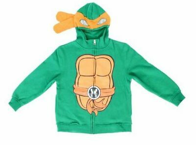 Boys Teenage Mutant Ninja Turtles Michaelangelo Costume Zip Up Hoodie Sweatshirt