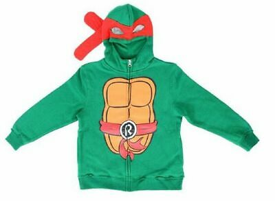 Boys Teenage Mutant Ninja Turtles Raphael Costume Zip Up Hoodie Sweatshirt