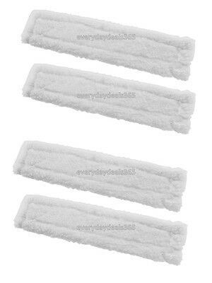 4 x KARCHER WV50 Window Vacuum Cloths Covers Spray Bottle Glass Vac Cleaner Pads