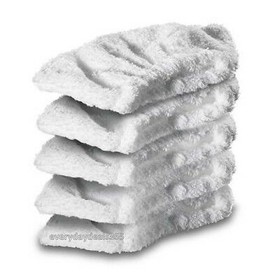 5 x KARCHER K1201 Steam Cleaner Terry Cloth Cover Pads Hand Tool Cleaning Pad
