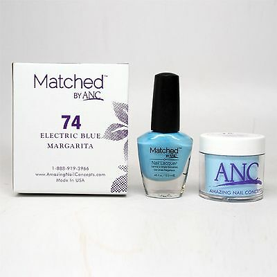 ANC Amazing Nail Concepts Matched kit # 74 Electric Blue Margarita