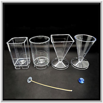 Good Quality Moulds for Candle Making - Height: 80 mm - 4 Shapes