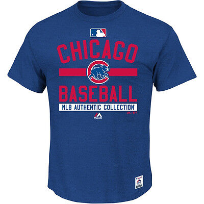 MLB Baseball T-shirt CHICAGO CUBS Authentic Collection Property 2015 Majestic
