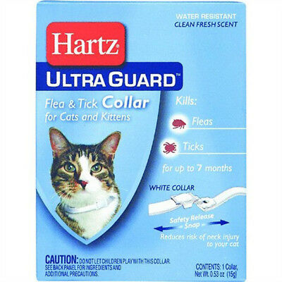 HARTZ - Flea & Tick Collar for Cats and Kittens White - 13 Inches