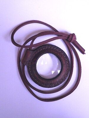 Magnifying Lens for Fire Starting - Lens only or mounted in a Leather case