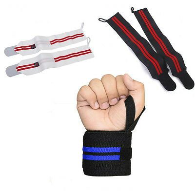 RZ Weight Lifting Wrist Wraps Bandage Hand Support Gym Straps Brace Cotton