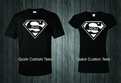 a7bc761455 Mom And Dad T-Shirts Superman Logo Couples Design Cute Nice Cool New Match