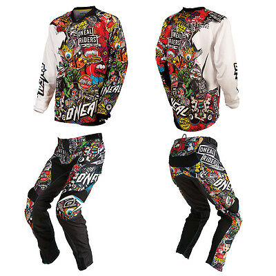 NEW O'Neal Mayhem Crank Motocross Off-Road MX Dirtbike Gear Jersey Pants Combo