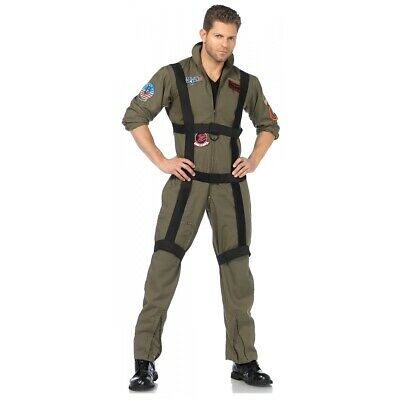 Top Gun Costume Adult Maverick and Goose Naval Aviator Flight Suit Halloween