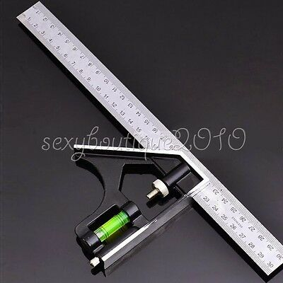 Measuring Combination Square Angle Finder Ruler Straight Edge Combo Gauge Tool