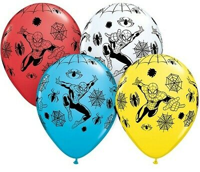 "ULTIMATE SPIDERMAN BALLOONS 11"" - Various amounts - PARTY DECORATION Helium Qu."