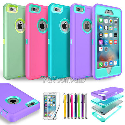 TPU Shockproof Rugged Hybrid Rubber Hard Cover Case For Apple iPhone 6 6s Plus