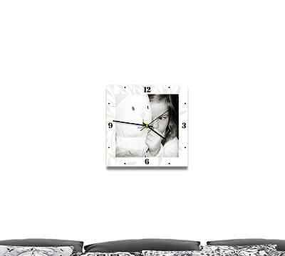 30cm personalized photo gift wall canvas with built-in clock. Custom made