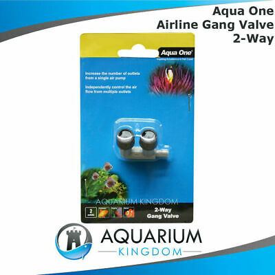 #10315 Aqua One Gang Valve 2 Way - Airline Control Flow of Air Pump Outlet