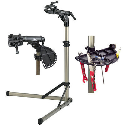 NEW BikeHand Bike Repair Workstand Workshop Alloy Folding W/Magnetic Tool Tray