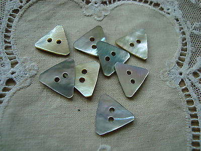 8 Triangle Shape Agoya/Mother of Pearl Buttons