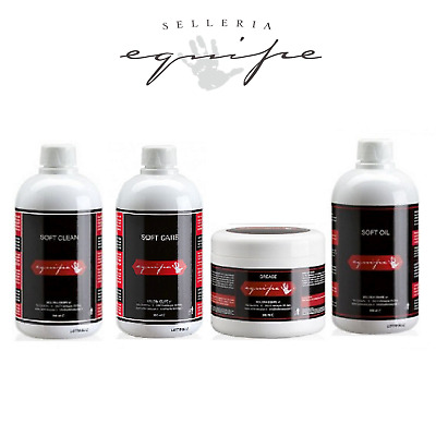 Selleria Equipe Leather Care Soft Clean, Soft Grease, Soft Oil, Soft Care, 500ml