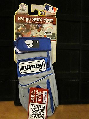 Franklin Neo-100 Series 30TH Anniversary Youth Large Blue Gray Batting Gloves
