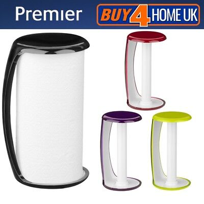 Premier Plastic Kitchen Towel Roll Holder Guard - Colourful Paper Stand Rack