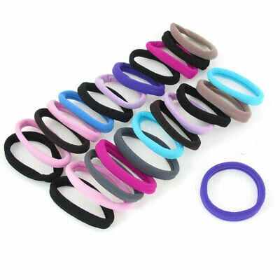"""Women Ponytail Holders Ealstic Hair Bands Tie Assotted Color 0.4"""" Wide 24pcs"""