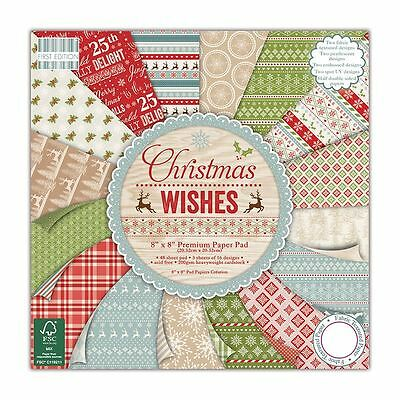 """Premium Craft Cardstock First Edition Christmas Wishes FSC 8x8"""" Scrapbook Papers"""