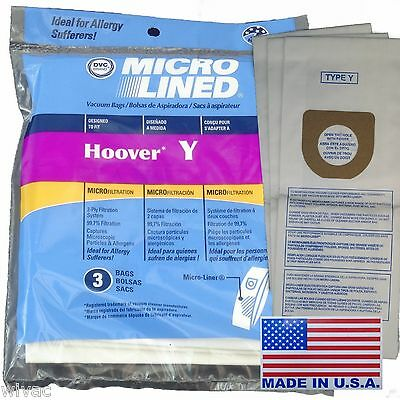 HOOVER Type Y WINDTUNNEL TEMPO Upright Vacuum Bags (3pk)